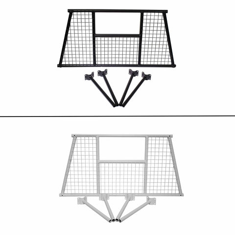 AA-Racks Mesh Protective Screen Set for Basic Truck Ladder Rack Steel Headache Rack - Black/ White (PX35-W)