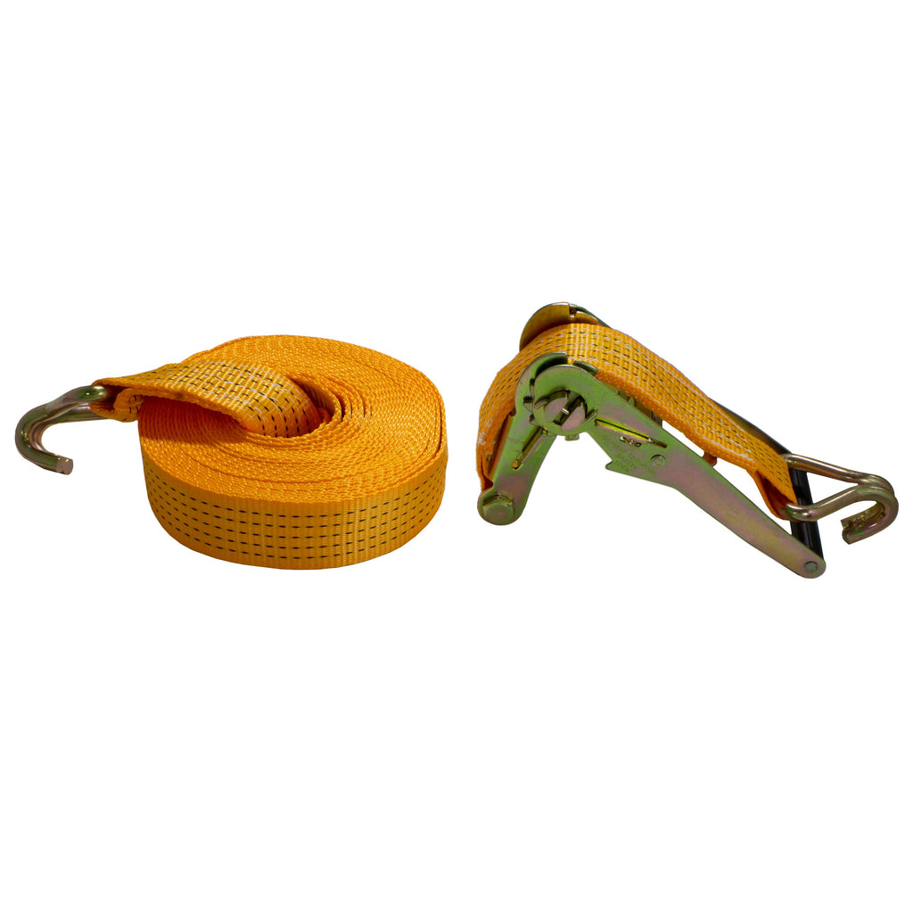 AA Products Heavy Duty Ratcheting Tie-Down Straps with Double J-Hooks (RS)