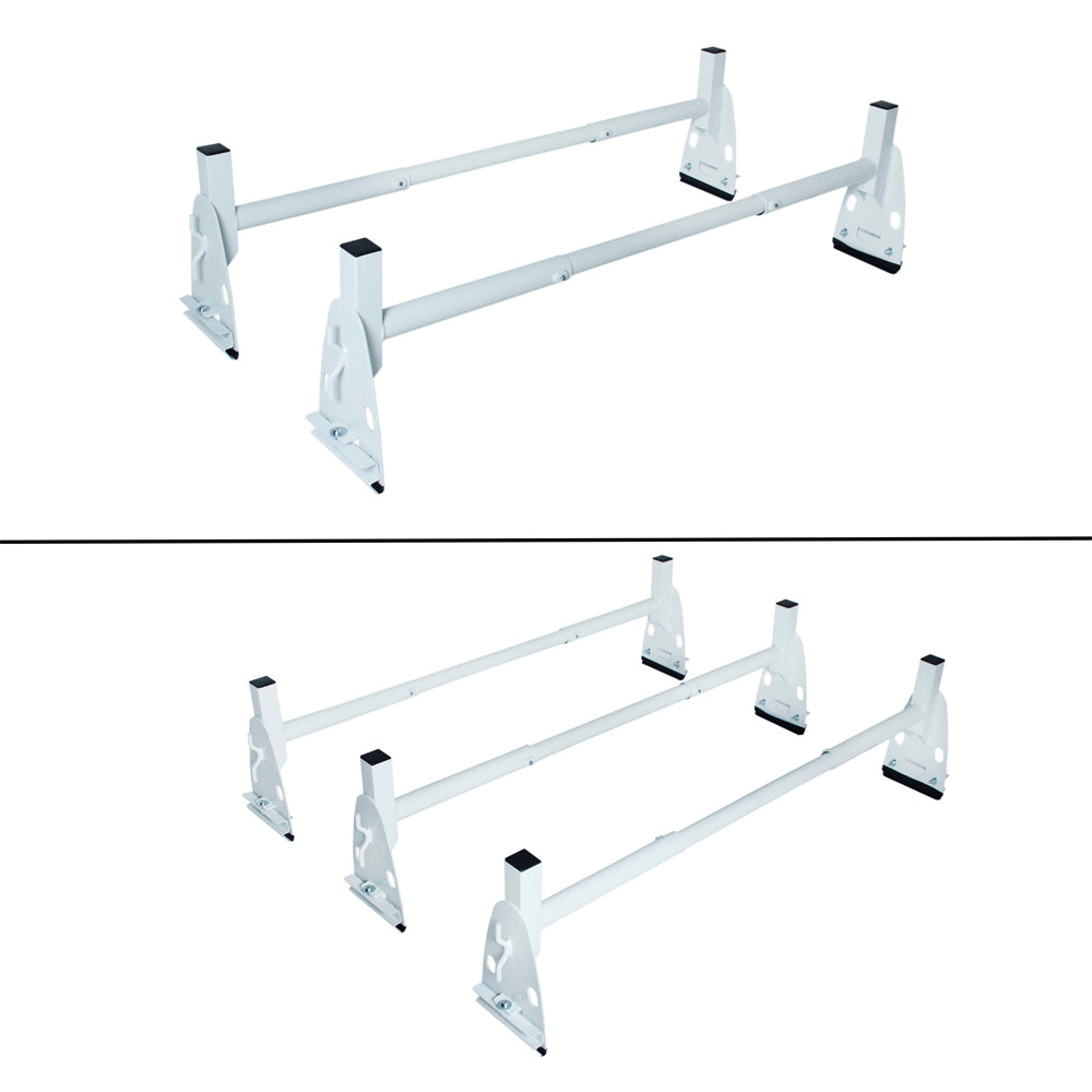 AA-Racks Universal Roof Top Mount Rain Gutter Van Ladder Racks Round Cross Bar Steel - (X317)