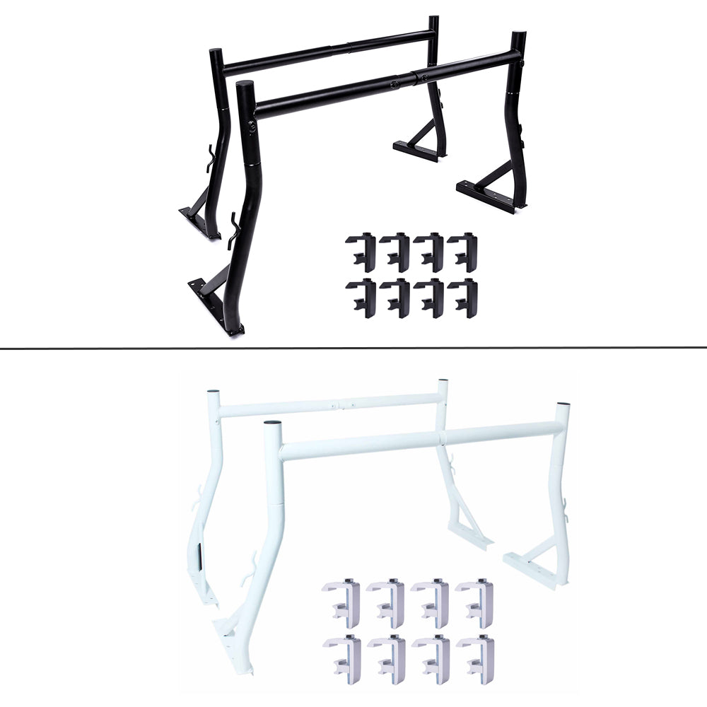 AA-Racks Pickup Truck Utility Ladder Racks with Mounting C-Clamps (Fits:Toyota Tacoma 2016-On) (X35-8Clamp-TA)