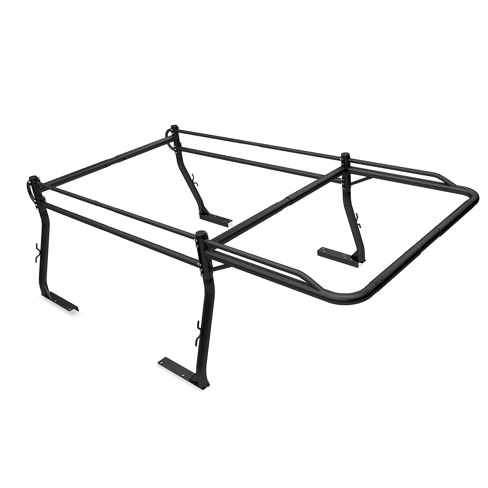 AA-Racks Universal Pickup Truck Utility Ladder Rack Adjustable Side Bar with Over-cab Ext. (X3901-SC/LC)