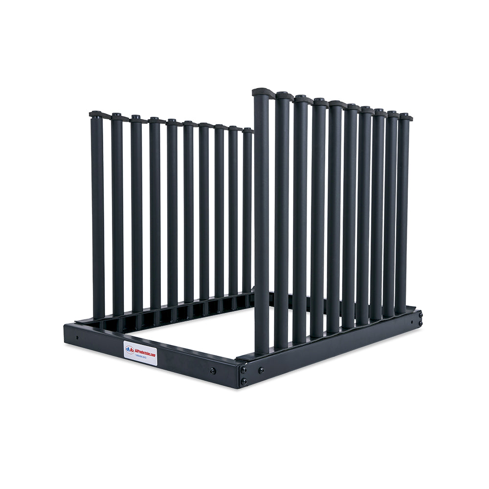 AA-Racks GM301U Windshield Rack with Quality Foam Pads Auto Glass Truck Cargo Management Rack with 22 Inch High Masts (9 Lite Slot Rack) - GM301U