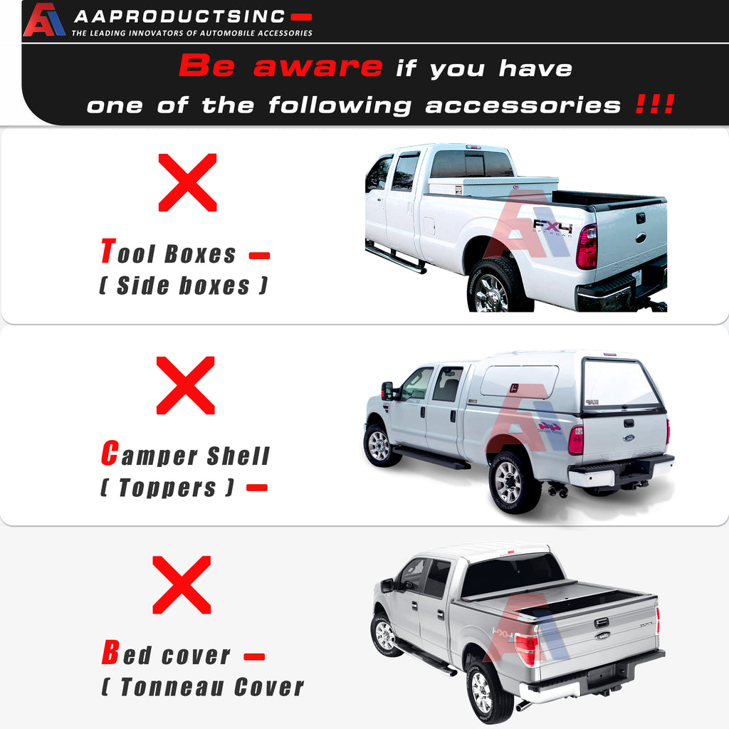 AA-Racks Aluminum Pickup Truck Ladder Rack w/ Cantilever Over Cab Extension for Toyota Tacoma 2005-On (APX25-E-TA)