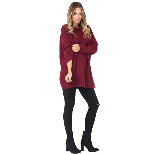 s Sweaters Casual Long Sleeve Backless Jumper ladies sweater winter warm long jumpers Coat Dress