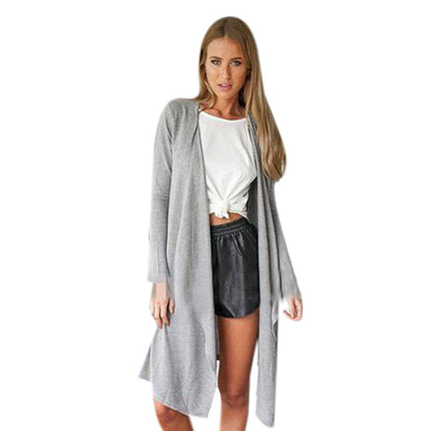 Outwear Spring Autumn Thin Jacket Tops Long Sleeve Cardigan Loose Jacket Coat