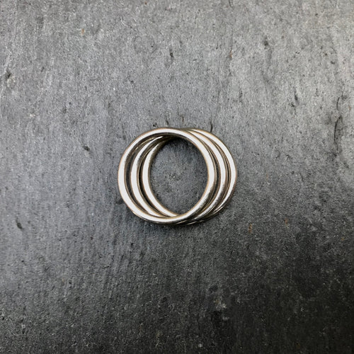 DAYA DAYA HANDCRAFTED 925 ECO SILVER STACKING RINGS