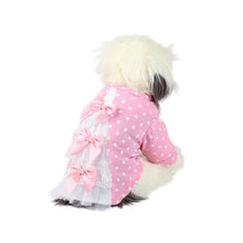 Three Tiered Tulle and Satin Bow Dog Dress in Pink by The Paw Wag Company