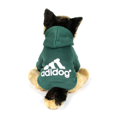 ADIDOG Hoodie in Forest Green by The Paw Wag Company