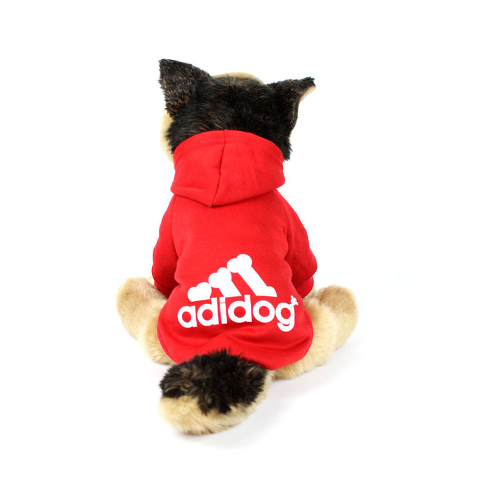 ADIDOG Hoodie in Red by The Paw Wag Company
