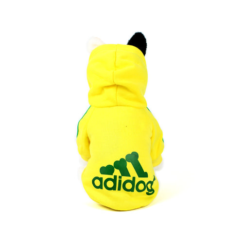 ADIDOG Hoodie in Yellow by The Paw Wag Company
