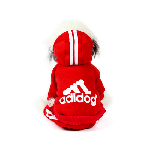 ADIDOG Tracksuit in Red by The Paw Wag Company