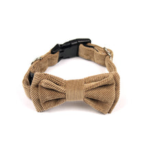 Tan Corduroy Bow Tie by The Paw Wag Company for Dogs