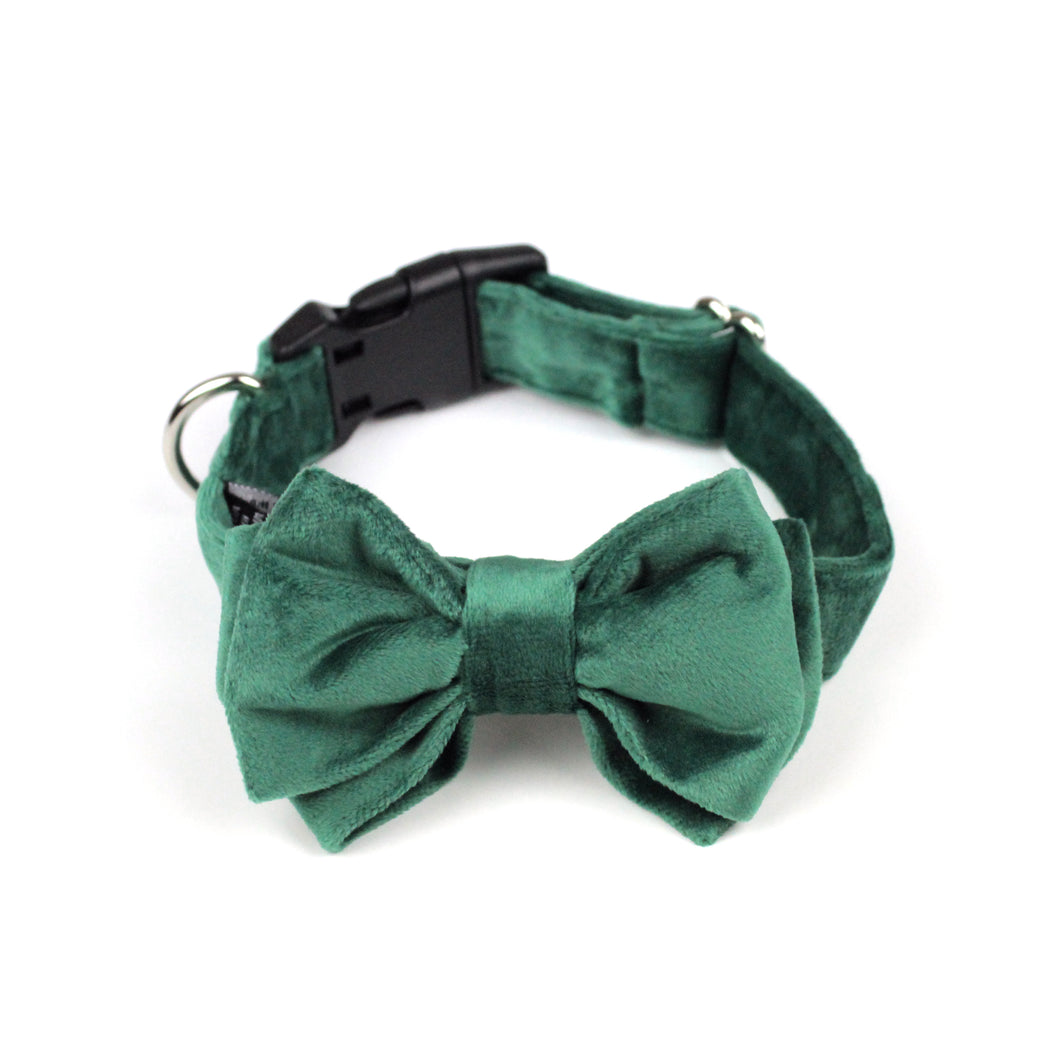 Emerald Green Velvet Bow Tie