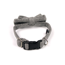 Grey Wool Bow Tie by The Paw Wag Company for Dogs