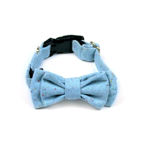 Bubblegum Blue Bow Tie by The Paw Wag Company for Dogs