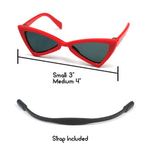 Cat Eye Triangle Sunglasses in Red by The Paw Wag Company for Cats and Small Dogs.  Fashion Pet Glasses and Sunglasses.