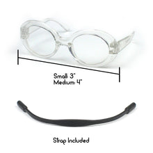 Clout Glasses in Clear by The Paw Wag Company for Cats and Small Dogs.  Fashion Pet Glasses and Sunglasses.