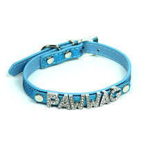 Custom Glitter Collar in Blue by The Paw Wag Company