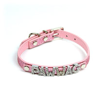 Custom Glitter Collar in Pink by The Paw Wag Company