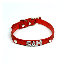 Custom Glitter Collar in Red by The Paw Wag Company