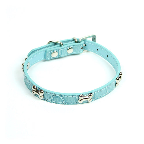 Dog Bone Collar in Light Blue by The Paw Wag Company