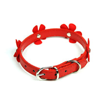 Daisy Collar in Red by The Paw Wag Company