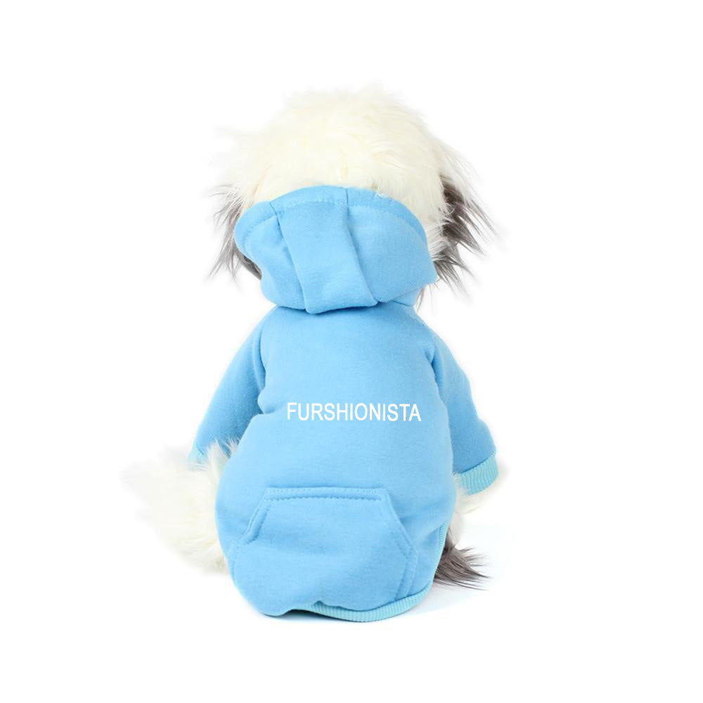 Furshionista Hoodie in Electric Blue
