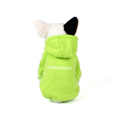 Furshionista Hoodie in Lime Green