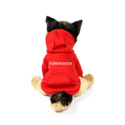 Furshionista Hoodie in Red