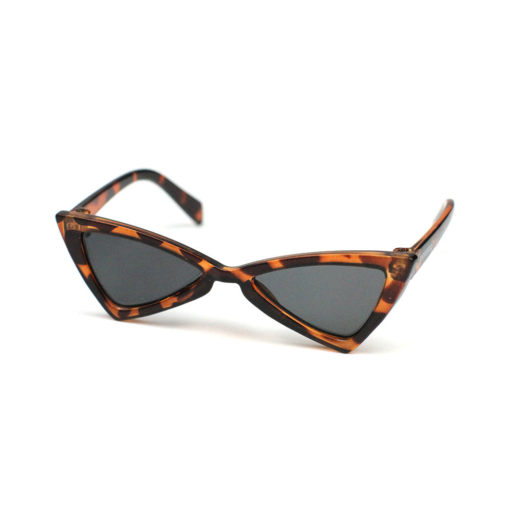 Cat Eye Triangle Sunglasses in Cheetah Print by The Paw Wag Company for Cats and Small Dogs.  Fashion Pet Glasses and Sunglasses.