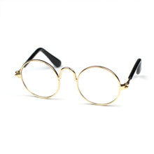 Round Glasses in Gold by The Paw Wag Company for Cats and Small Dogs.  Fashion Pet Glasses and Sunglasses.
