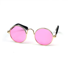 Round Sunglasses in Pink by The Paw Wag Company for Cats and Small Dogs.  Fashion Pet Glasses and Sunglasses.