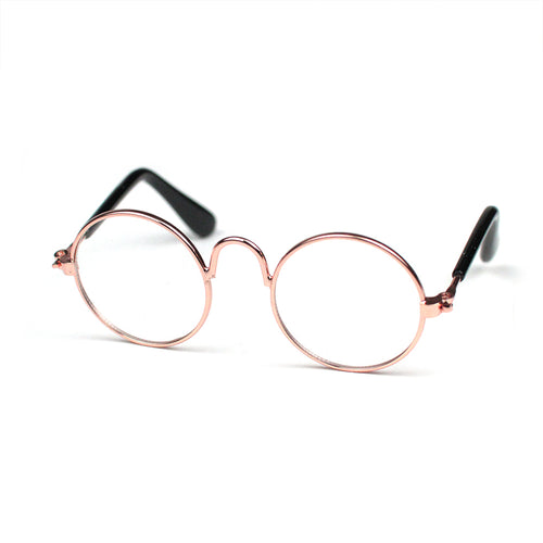 Round Glasses in Rose Gold