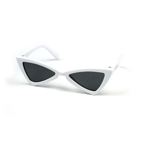 Cat Eye Triangle Sunglasses in White by The Paw Wag Company for Cats and Small Dogs.  Fashion Pet Glasses and Sunglasses.