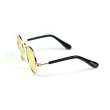 Round Sunglasses in Yellow by The Paw Wag Company for Cats and Small Dogs.  Fashion Pet Glasses and Sunglasses.