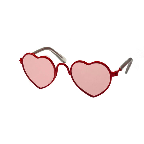 Heart Glasses in Red by The Paw Wag Company