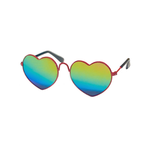 Heart Rainbow Sunglasses in Red by The Paw Wag Company