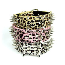 Leopard Print Spiked Collar by The Paw Wag Company