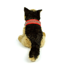 Spikes and Studds Collar in Red by The Paw Wag Company