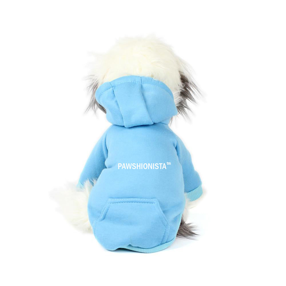 Pawshionista Hoodie in Electric Blue