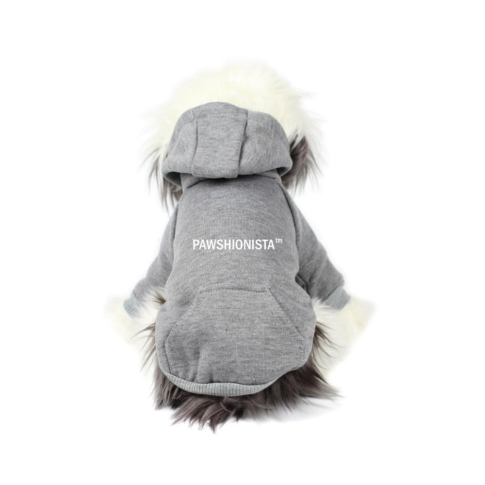 Pawshionista Hoodie in Grey