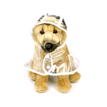 Clear Raincoat in White by The Paw Wag Company