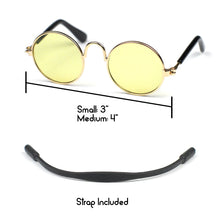 Round Sunglasses in Yellow