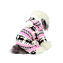 Snowball and Reindeers Jumpsuit in Pink