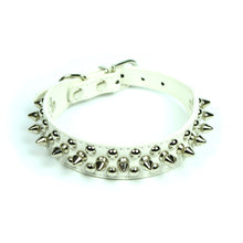 Petite Spiked and Studded Collar in White by The Paw Wag Company