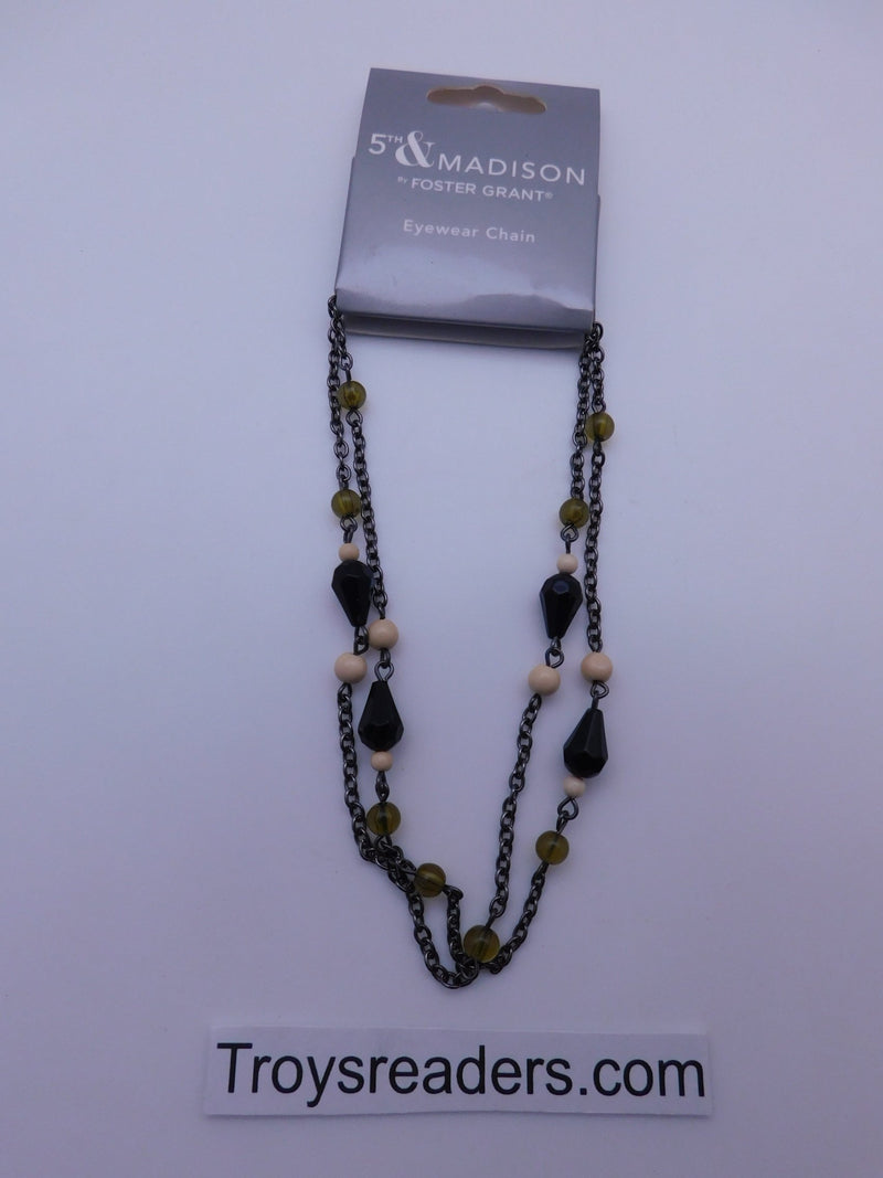 5th & Madison Green, Black & White Eyeglass Chain Cords