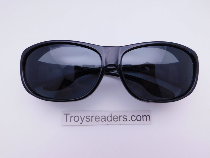63mm Polarized Fit Over in Two Colors Fit Over Sunglasses Black Smoke