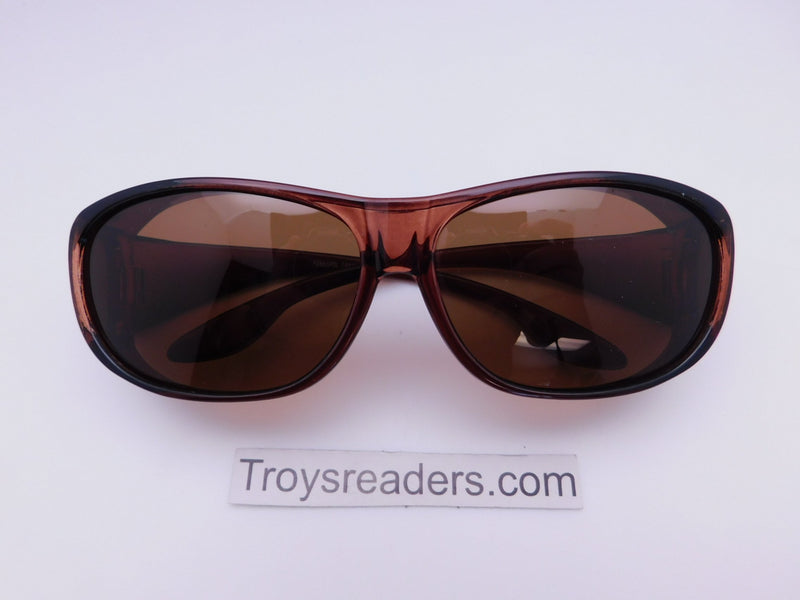 63mm Polarized Fit Over in Two Colors Fit Over Sunglasses Brown Amber