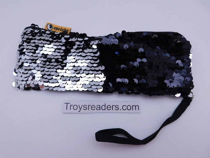 Black and Silver Eyebobs Two Tone Sequin Soft Case Cases