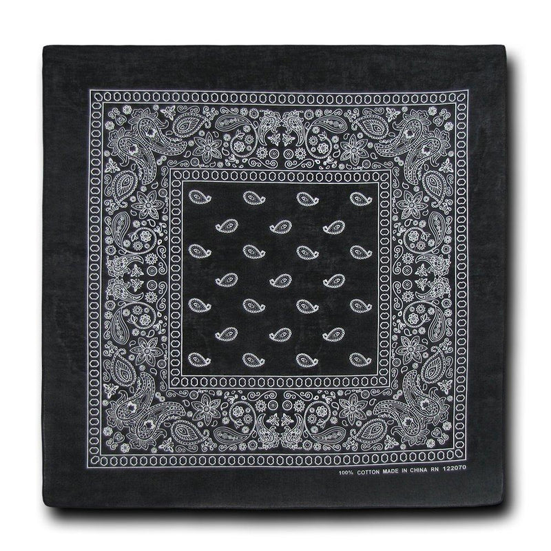 Black Bandana 100% Cotton Bandana